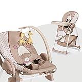 Hauck Sit'n Relax Newborn Set - Neugeborenen Aufsatz und Kinderhochstuhl ab Geburt, mit Liegefunktion / inkl. Spielbogen, Tisch, Rollen / höhenverstellbar, mitwachsend, klappbar